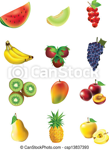 Set of  fruits and vegetables - csp13837393