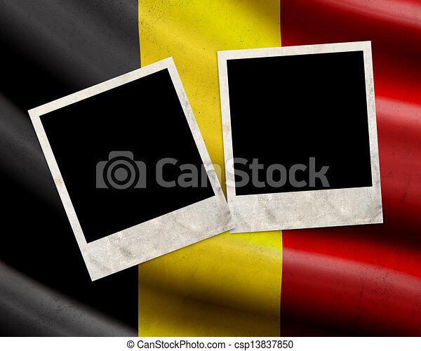Grunge Belgium flag  - csp13837850