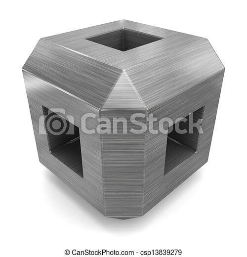 stock illustration w rfel 3d metall stock illustration lizenzfreie illustration stock. Black Bedroom Furniture Sets. Home Design Ideas