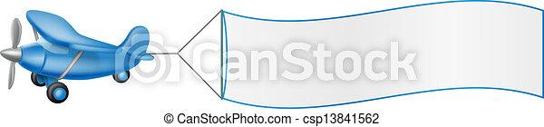 Aeroplane pulling banner - csp13841562