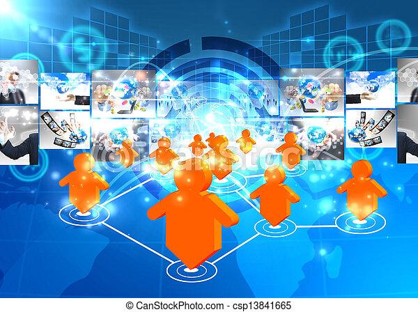 Social network concept  - csp13841665