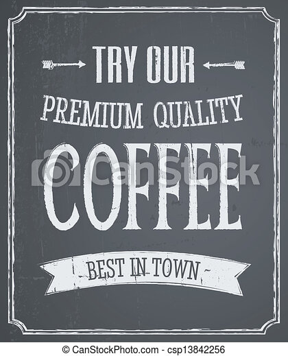 Chalkboard Coffee Design - csp13842256