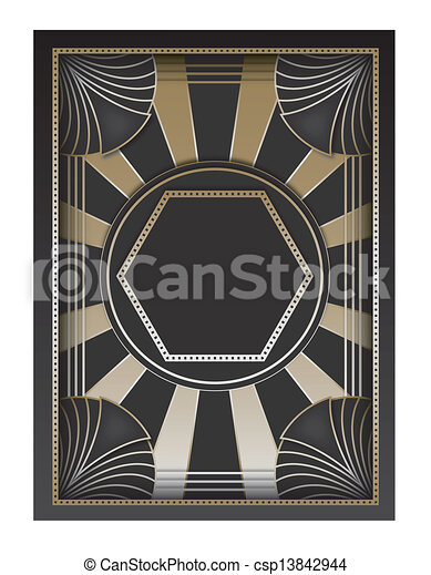 Art Deco Background and Frame - csp13842944