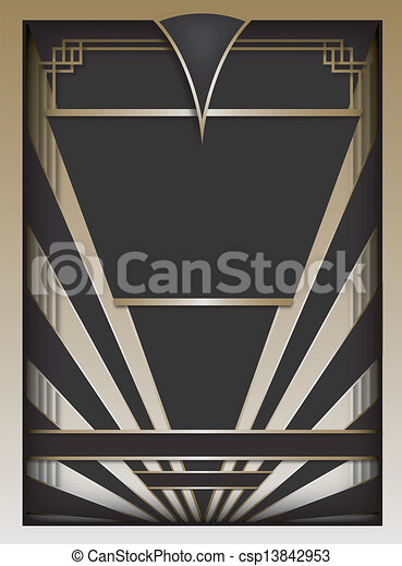 Art Deco Background and Frame - csp13842953