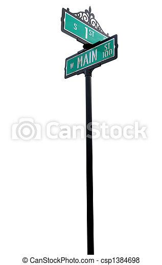 Main street sign - csp1384698