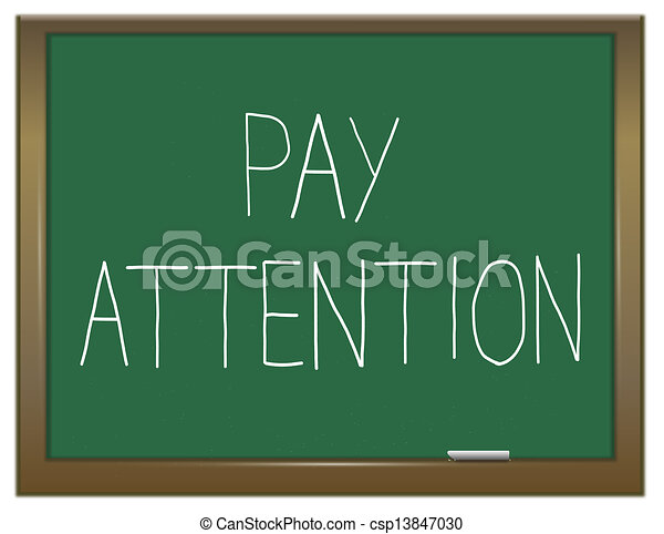 Drawings of Pay attention concept. - Illustration ... Pay Attention Clipart