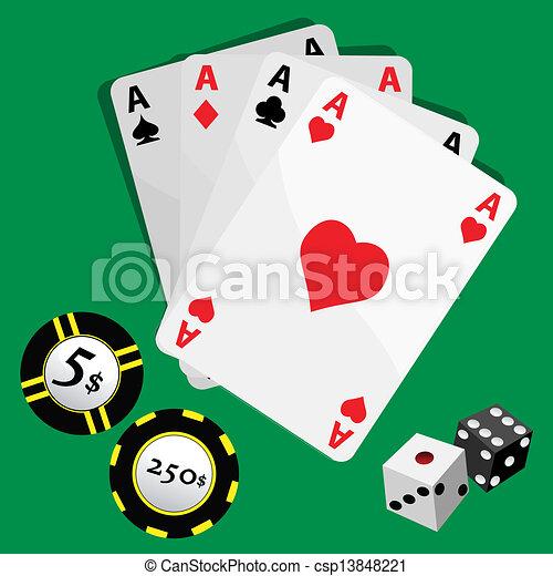gambling set - csp13848221