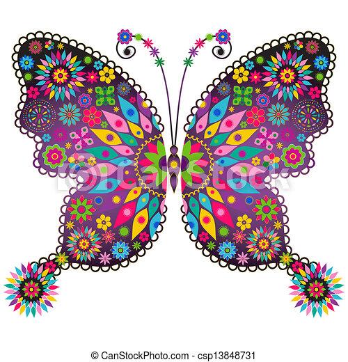 Fantasy vivid vintage butterfly - csp13848731