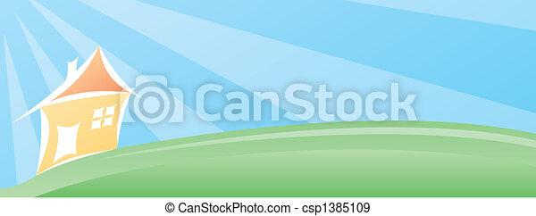 House landscape - csp1385109