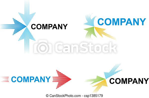 Logo templates with arrows - csp1385179