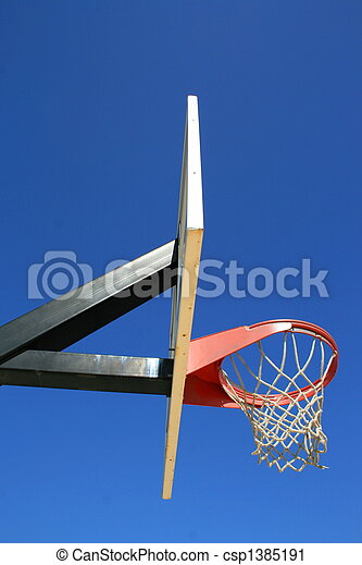 Basketball Net And Backboard - csp1385191