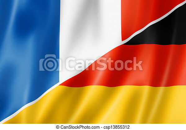 France and Germany flag - csp13855312