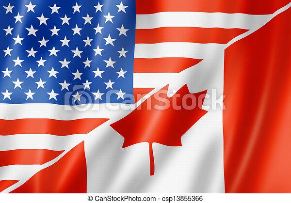 USA and Canada flag - csp13855366