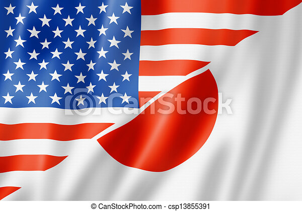 USA and Japan flag - csp13855391