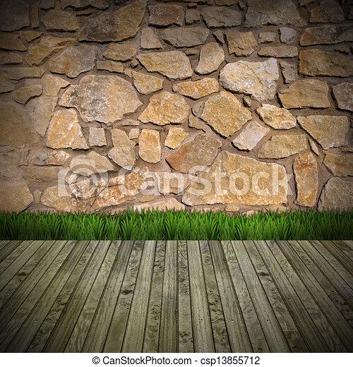 Clip arte de interior sala pedra parede marrom pedra for Sala de estar 3x5