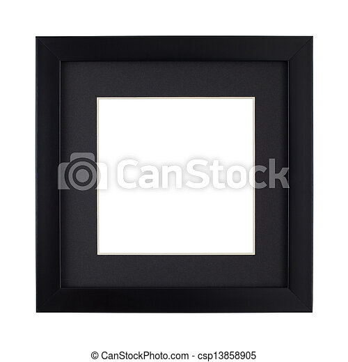 Modern Black picture frame - csp13858905