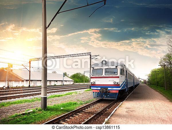 Modern train - csp13861115