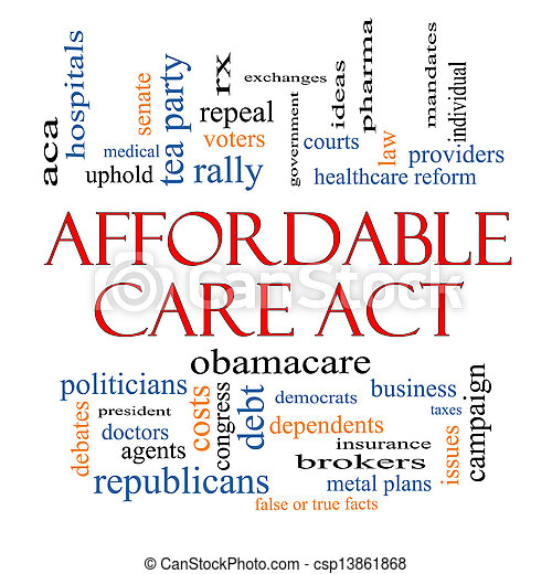 Stock Image of Affordable Care Act Word Cloud Concept with ...