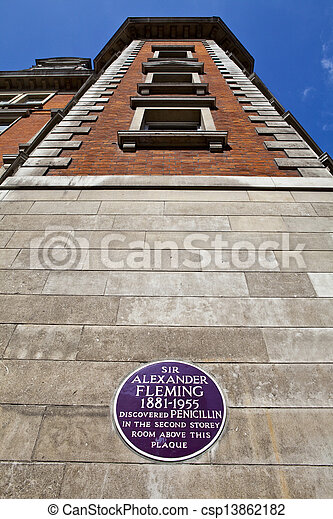 Sir Alexander Fleming Plaque at St. Mary\'s Hospital in London