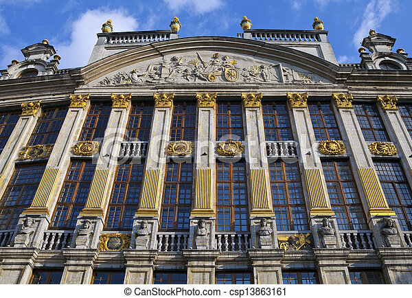 Historic Building on Grand Place in Brussels - csp13863161