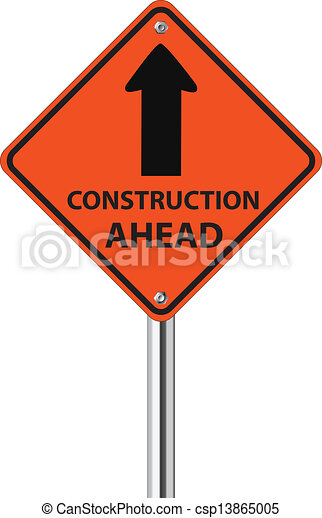 Construction Ahead traffic sign - csp13865005