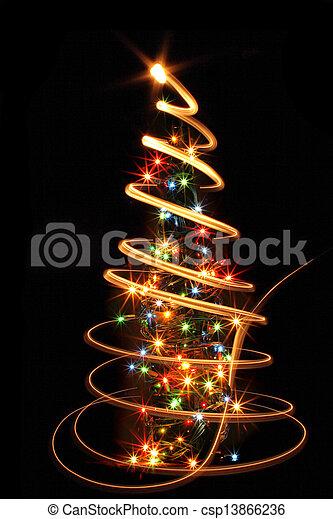 xmas tree in the dark night