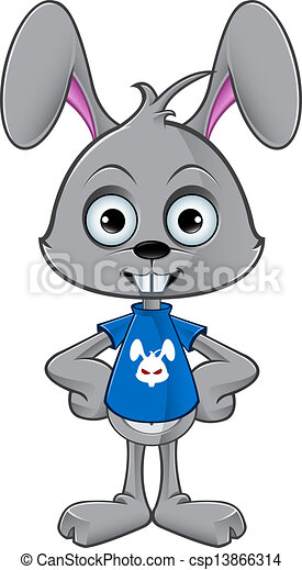 Vector Clip Art Of Cartoon Rabbit Hands On Hips