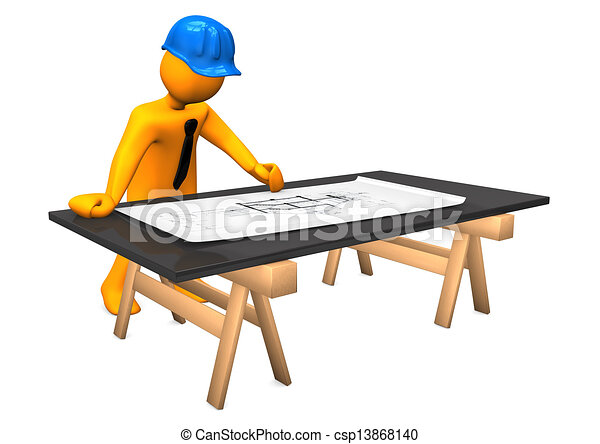 Dessin de construction architecte plan orange dessin for Plans et dessins de construction