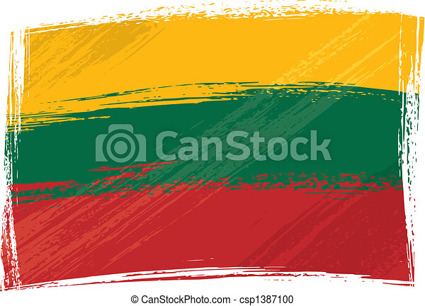 Grunge Lithuania flag - csp1387100