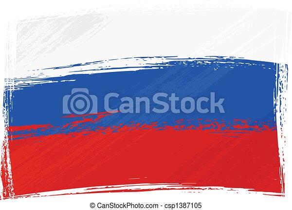 Grunge Russia flag - csp1387105