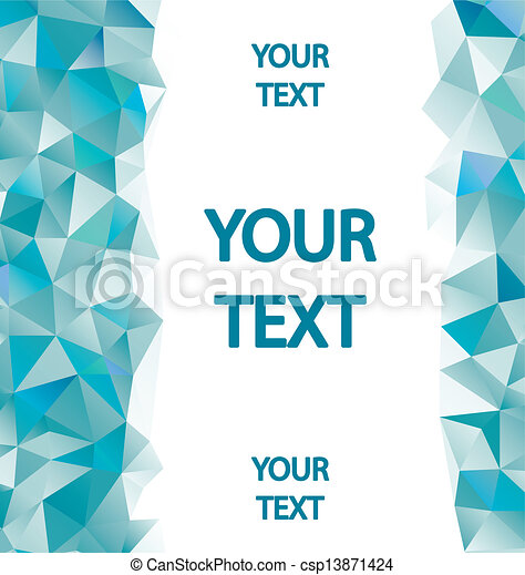Blue polygons background with place for your text - csp13871424