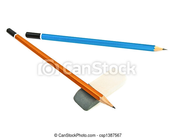 pencils and eraser - csp1387567