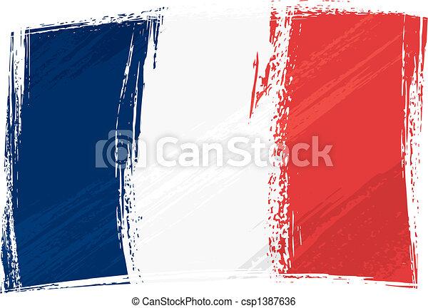 Grunge France flag - csp1387636