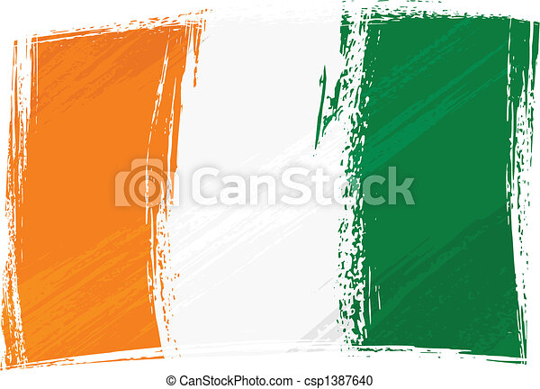 Grunge Cote d\\\'Ivoire flag - csp1387640