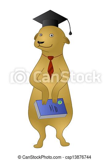 Disegno di libro cartone animato meerkat cartone - Animale cartone animato immagini gratis ...