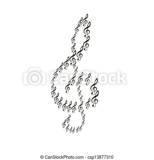Vector clip art of musical composition notes vector for The craft of musical composition