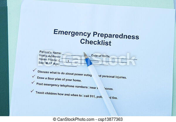Emergency checklist - csp13877363
