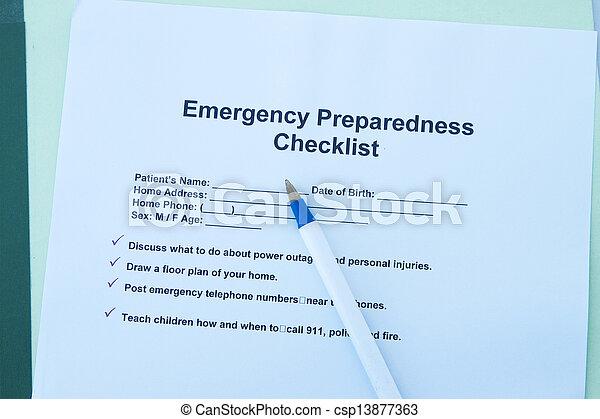 Emergency checklist - csp13877363