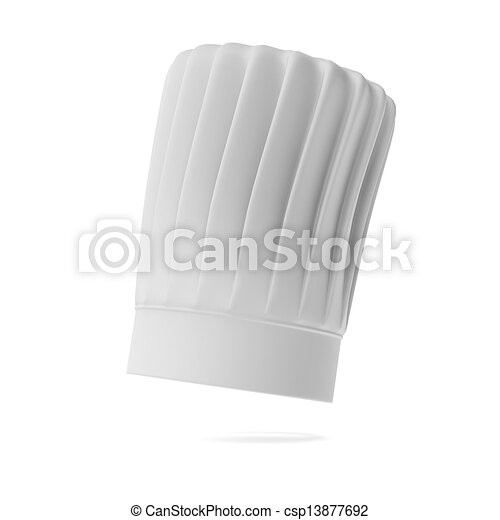 Stock Illustration of White tall chef hat isolated on a
