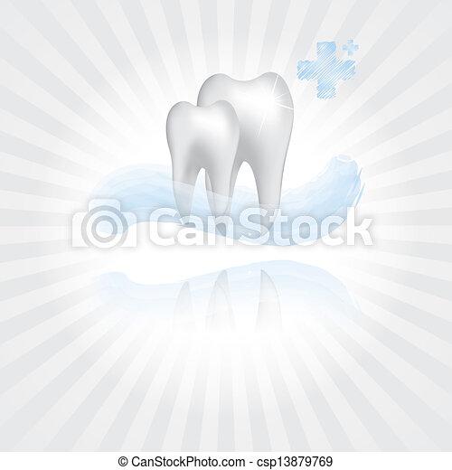 Abstract vector dental illustration - csp13879769