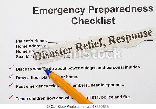 Emergency checklist - csp13880615