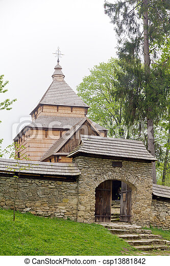 the oldest eastern orthodox church architecture in poland in radruz from 16th century - csp13881842