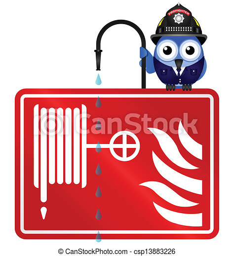 fire hose reel sign isolated on... csp13883226 - Search Clipart ...