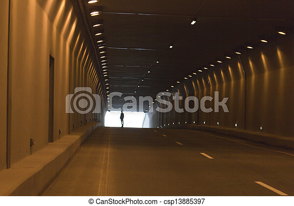Automobile tunnel - csp13885397