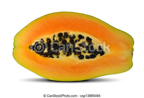 exotic fruit papaya - csp13885494