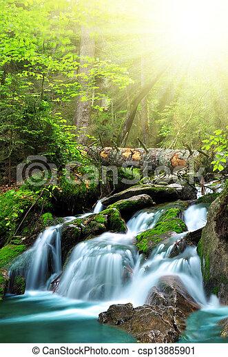 Waterfall - csp13885901