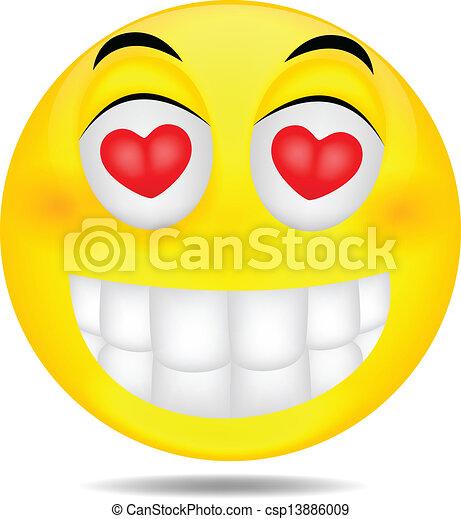Clipart vecteur de smiley amour vecteur illustration de smiley dans csp13886009 - Dessins de smiley ...