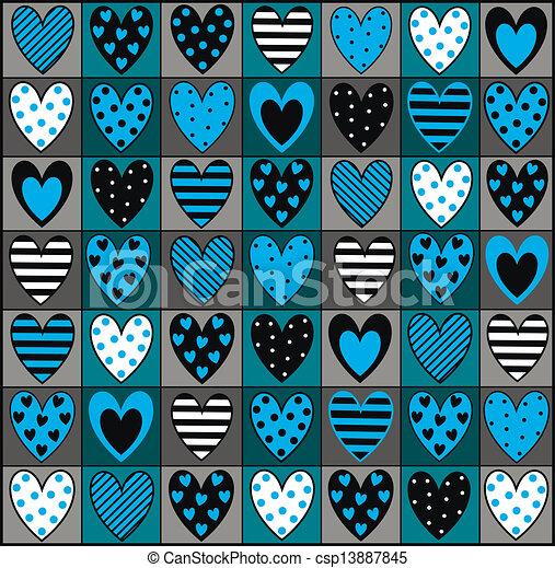 Eps vector de decorativo corazones plano de fondo for Fotos de papel decorativo