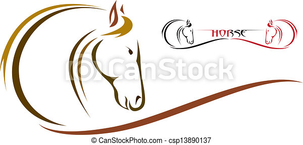 Vector head of horse - csp13890137
