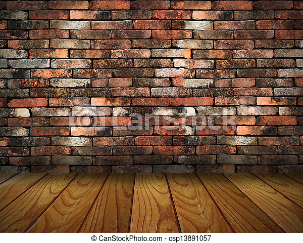 Stock im genes de vendimia ladrillo pared madera piso for Madera para pared interior